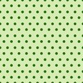 Abstract Seamless Pattern With Green Dots Background Cute Ornament For Patrick Day Holiday Royalty Free Stock Photo