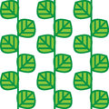 Abstract  seamless pattern green leaves Royalty Free Stock Images
