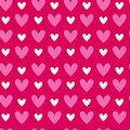 Abstract Seamless Pattern With Heart Shapes On Pink Background Valentines Day Structure
