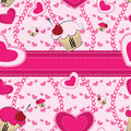 Abstract seamless pattern with hearts Stock Images