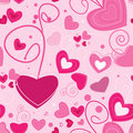 Abstract seamless pattern with hearts Stock Photography