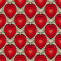 Abstract seamless pattern with hearts Royalty Free Stock Photography