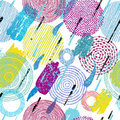 Abstract seamless pattern. Ink strokes, paint, watercolor, expre