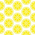 Abstract Seamless Pattern Lemon Slices Yellow Square