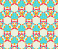 Abstract seamless pattern light blue grey star kaleidoscopic futuristic Royalty Free Stock Photography