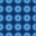 Abstract seamless pattern light blue star kaleidoscopic Royalty Free Stock Photo