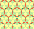Abstract seamless pattern light green yellow orange circle kaleidoscopic Royalty Free Stock Image