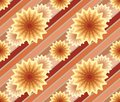 Abstract seamless pattern with lines and flowers retro Stock Images
