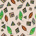 Abstract seamless pattern made of geometric shapes, multi colored.