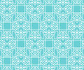 Abstract seamless pattern with outlined geometric ornament.
