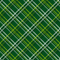 Abstract seamless pattern with plaid fabric on a dark green background simple checkered template in yellow and white colors Royalty Free Stock Photography