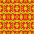 Abstract seamless pattern red green orange retro Royalty Free Stock Images