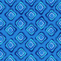 Abstract seamless pattern of rhombus fun blue hand drawn Royalty Free Stock Photos