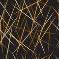 Abstract seamless pattern. Seamless pattern with lines. Golden black and gray lines. Vector illustration