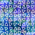 Abstract seamless pattern. Triangles drawn on geometric shapes