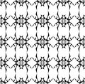 Abstract seamless pattern with tribal elements Royalty Free Stock Photography