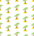 Abstract Seamless Pattern with Tropical Palm Trees. Summer Royalty Free Stock Photo