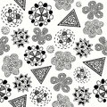 Abstract seamless pattern vector with different elements eps on Royalty Free Stock Photography