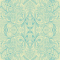 Abstract seamless pattern  in  Zen tangle or Zen doodle style  in beige light blue Royalty Free Stock Photo