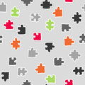 abstract seamless puzzle pattern. vector