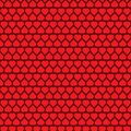 Abstract Seamless Red Hearts Pattern - Valentine`s Day Card or Background Vector Design