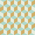 Abstract Seamless Retro Checkered Cube Block Color Pattern Background Royalty Free Stock Photo