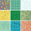 Abstract seamless set with pattern Royalty Free Stock Photos
