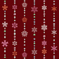 Abstract seamless snowflake pattern Stock Images