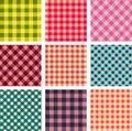 Abstract seamless square pattern set Royalty Free Stock Photos