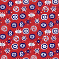 Abstract seamless stylish pattern with decorative elements