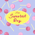 Abstract seamless sweetest day candies background illustration Stock Image