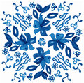 Abstract seamless tradition watercolor pattern