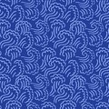 Abstract seamless wave pattern. Waving curling lines background. Blue vector illustration. Royalty Free Stock Photo