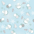 Abstract seamless winter pattern Stock Photography