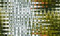 Abstract Seamless Zigzag Pattern With Waves In White, Green, Orange Tones. Artistic Image Processing Created By Christmas Tree Toy
