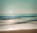 An abstract seascape with blurred panning motion on paper backgr cross processed colors background Stock Images