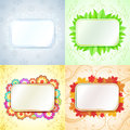 Abstract seasonal frames with copy space backgrounds Stock Photos