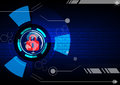 Abstract security digital technology background. Illustration Ve