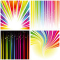 Abstract set of rainbow color stripe background Stock Photo