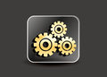 Abstract settings icon illustration Stock Photography