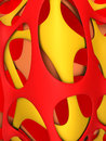 Abstract shape background hot color d illustration Stock Image
