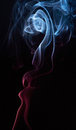 Abstract shape of smoke Royalty Free Stock Photo