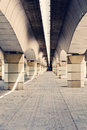Abstract shapes composition under bridge with nice Stock Photo
