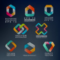Abstract shapes d paper graphics with Royalty Free Stock Photography
