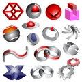 Abstract shapes and logos Royalty Free Stock Photo