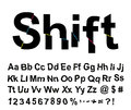 Abstract shift font Royalty Free Stock Photography