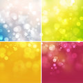 Abstract shine background colorful with bokeh Royalty Free Stock Images