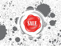 Abstract shiny sale icon with grungy background Stock Image