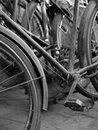 stock image of  ABSTRACT SHOT OF OLD RUSTY BICYCLE PARTS