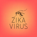 Abstract silhouette of a mosquito with text virus Zika Royalty Free Stock Photo